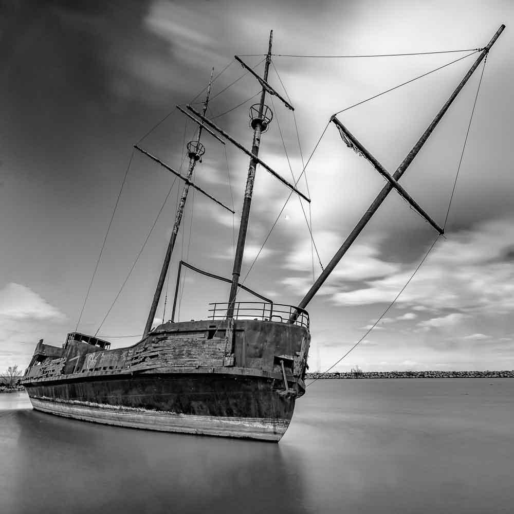 Abandoned ship near St. Catharines