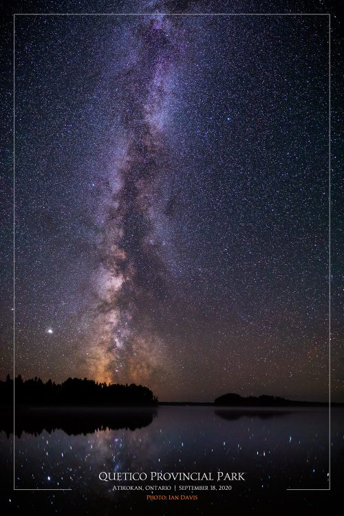 Quetico PP Night Sky Poster