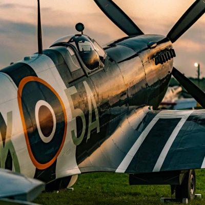 Spitfire at Golden Hour