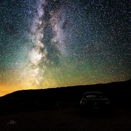 The Milkway over Big Horn Canyon